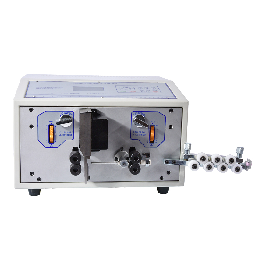 SWT508D-II automatic wire stripping machine, model SWT508D, 110-220v fast speed stripping swt508c ii automatic wire stripping aachine model swt508d 110 220v two wheel drive