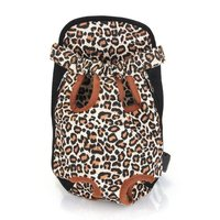 2X Type Changing Front Backpack Carrier Size XL Canvas for dog leopard