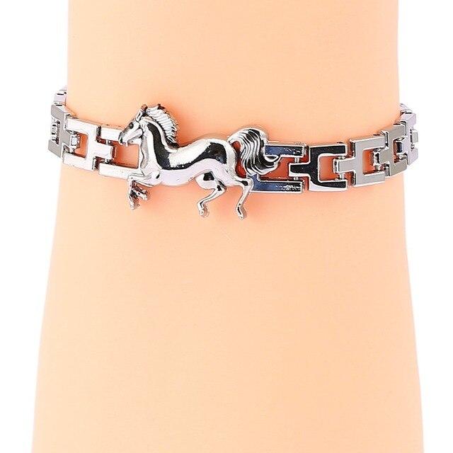 759249864716a US $1.99 29% OFF|wholesale Charms metal Bracelets Men Women Silver(Color)  Mens Boys Horse bracelets & Bangles Wholesale Gift Men's Jewelry-in Charm  ...