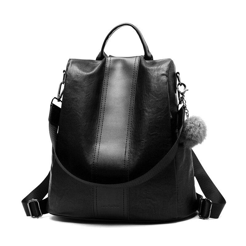 Neue mode lässig pu frauen anti-diebstahl rucksack 2019 hight qualität vintage rucksäcke frauen größere kapazität weibliche schulter tasche