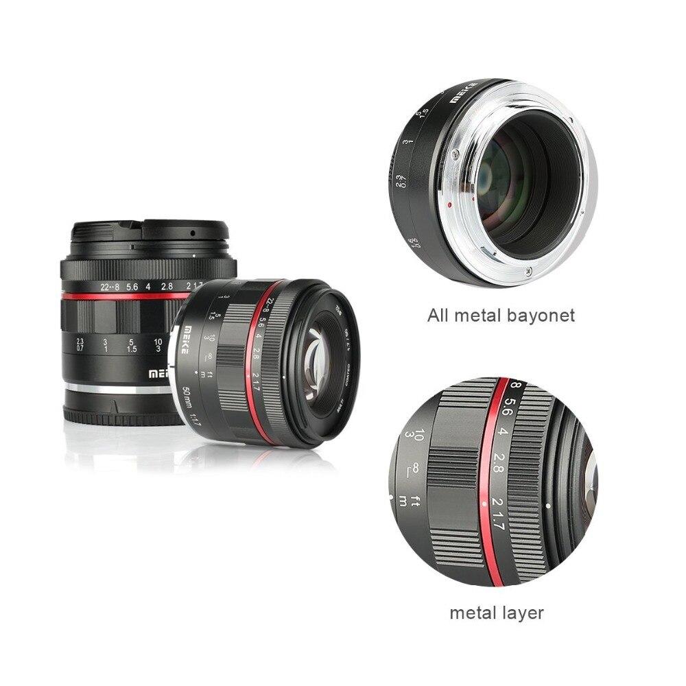 Meike 50mm f/1.7 objectif de mise au point manuelle à grande ouverture pour Canon EOS R mount/pour Nikon Z Mount Z6 Z7 appareils photo sans miroir + cadre complet - 5