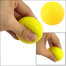 100% Best Retail golf practice ball PU Indoor Outdoor Training Practice Golf Balls Soft Light Yeloow color sport ball