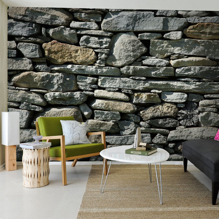3d Stone Bricks Wallpaper for Living room Sofa Background 3d Block Photo Papel Murals Wall paper 3d Stone stickers Wallcovering