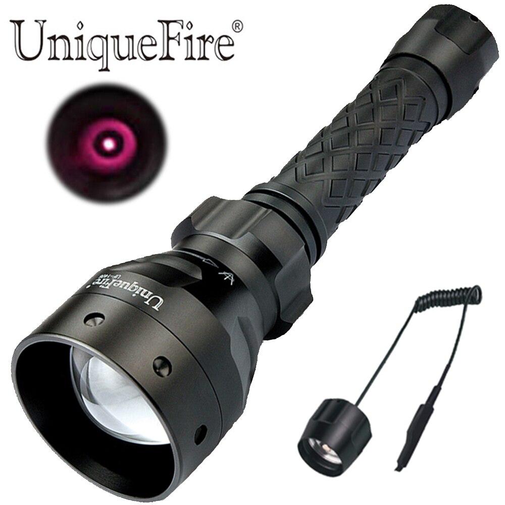 UniqueFire 1405 T67 IR 850nm lumière infrarouge lampe de poche LED Vision nocturne lampe de chasse torche tactique avec pressostat à distance