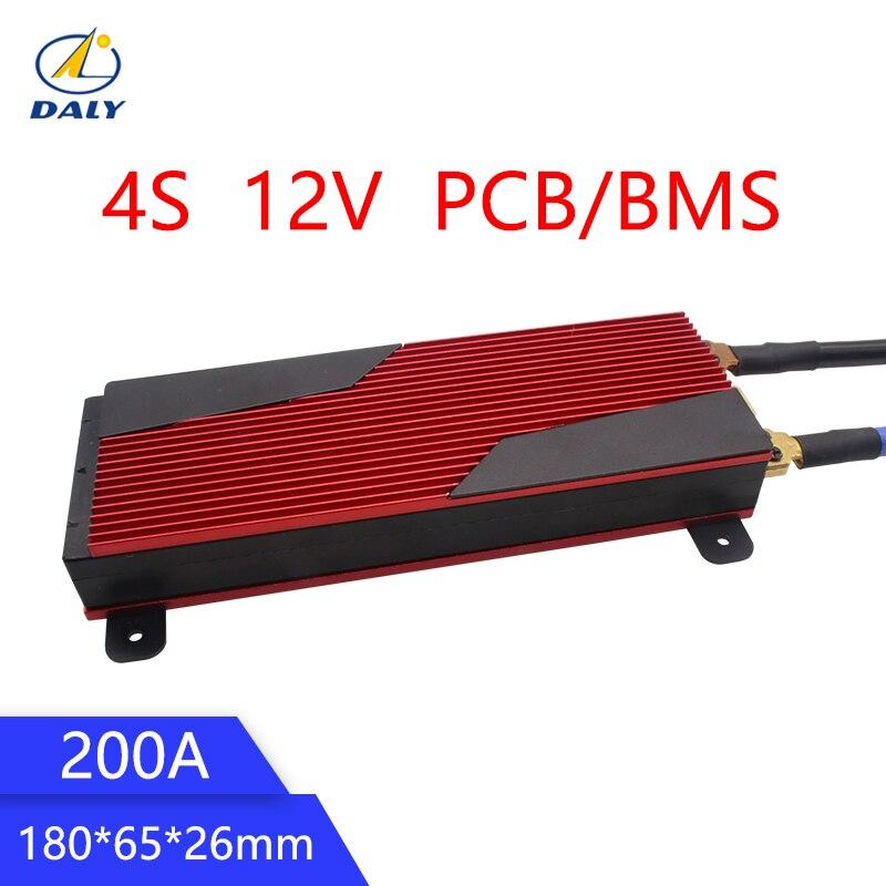 Daly 12V LiFePO4 4S 200A BMS 14.8V 18650 Packs BMS Placa de Proteção PCB Bateria Equilíbrio Circuitos Integrados
