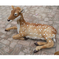 large 110x65cm simuluation prone sika deer model,plastic&furs christmas deer handicraft prop home garden decoration gift d2941