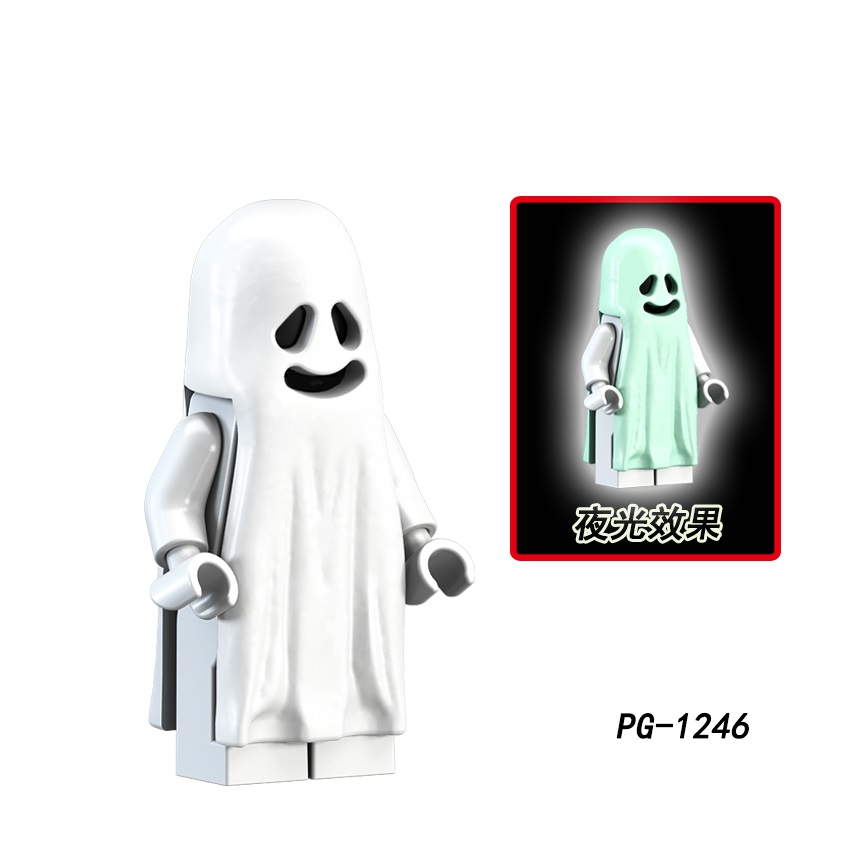 Ghost Movie Halloween Monster Weapons Brinquedos Compatible Playmobil Military Mini Figures Building Block Original Toys
