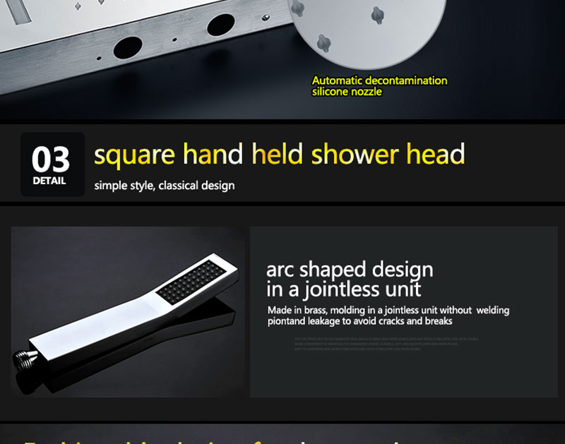 Digital Shower Set Controller Touch Control Panel SUS304 Rainfall Bathroom Thermostatic Control Led Digital Shower Faucet (19)