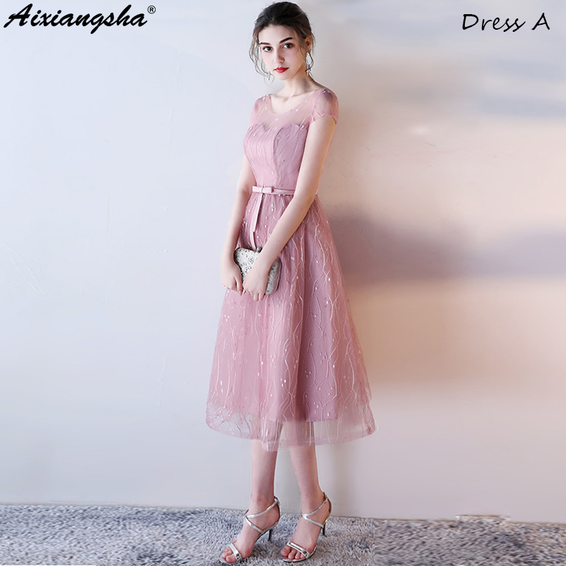 2018 New Six Styles   Bridesmaid     Dresses   vestido de festa For Wedding Party robe demoiselle d'honneur wedding guest   dress