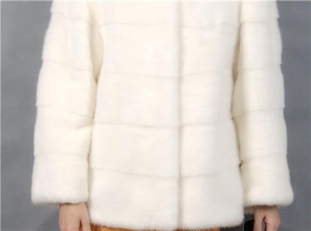 2019 Winter Frau Mode mit einem Kragen kurze weiße Farbe - Damenbekleidung - Foto 6