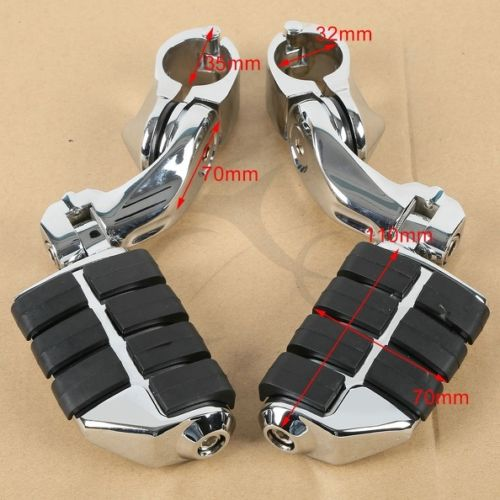 360 degree Adjustable New Short Highway Foot Pegs Footpeg Footrests For 32mm Harley Electra Road King Street Glide 1-1/4