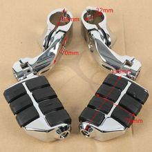 лучшая цена Black 360 degree Adjustable Highway Foot Pegs Footpeg Footrests For Harley 32mm
