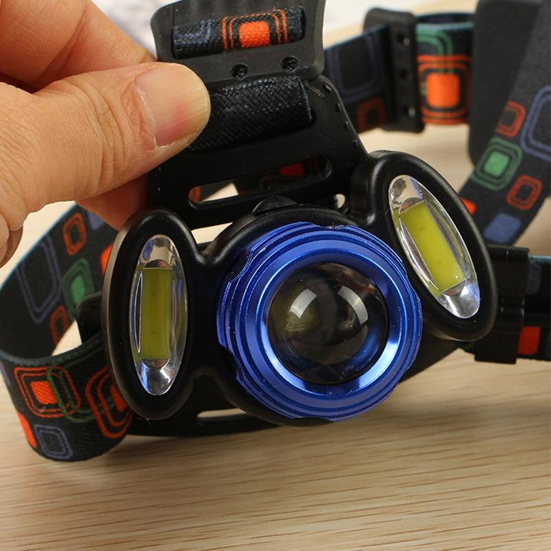 8000lm T6 + 2 * COB Światła Reflektorów zoomable Niebieski - Przenośne oświetlenie - Zdjęcie 3