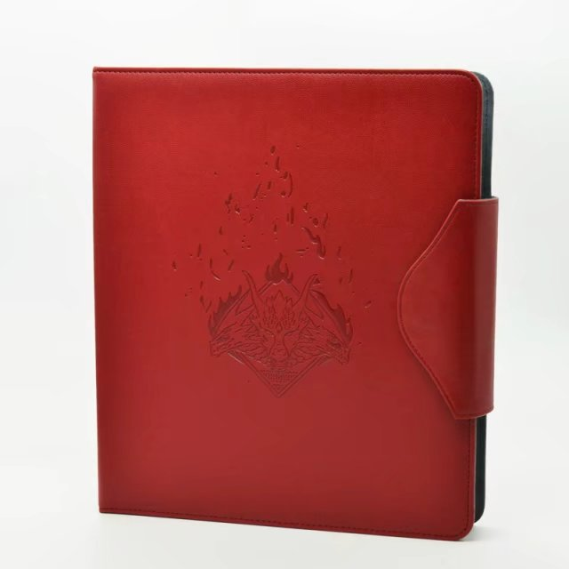 Time Walker Cards Album, Game of Thrones Fire and Ice Red Cards Storage Book MGT CARDS Binder Album With 18 Pockets Black Pages