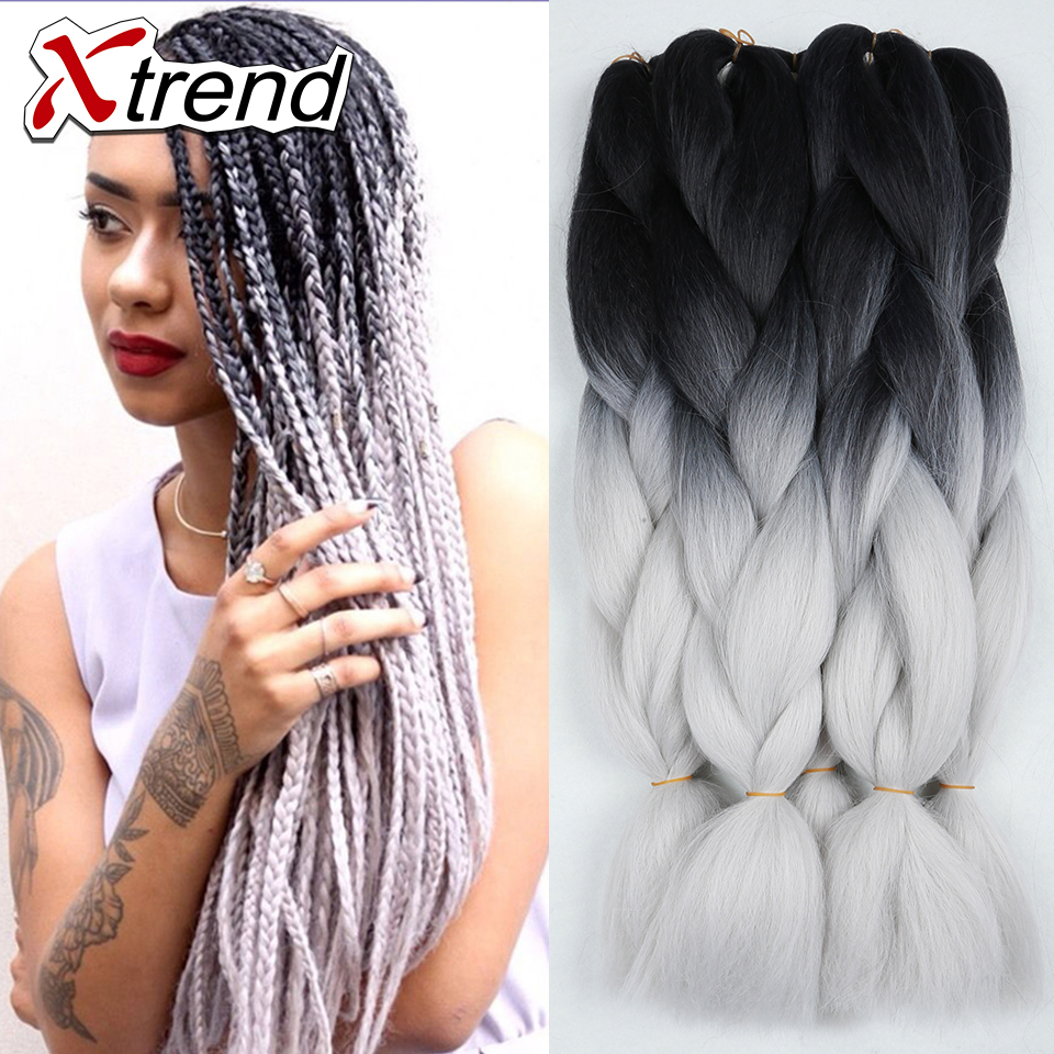 24 Quot 100g Ombre Kanekalon Braiding Hair For Box Braids Hair