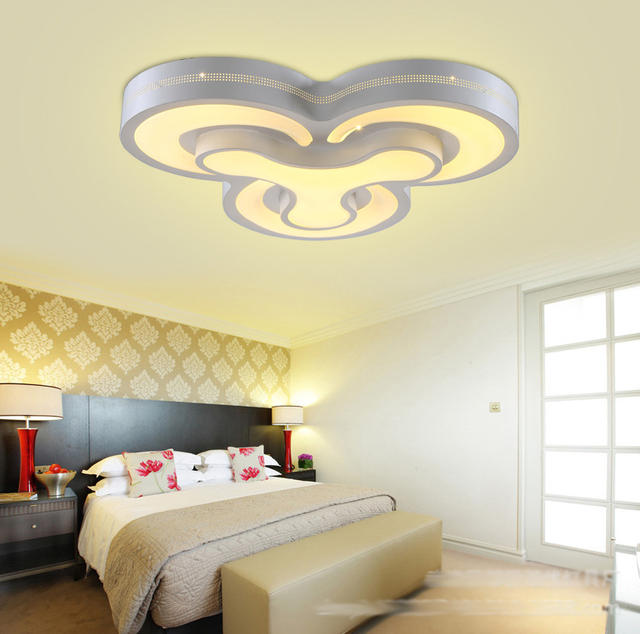 Modernas luces de techo led 48 W lmparas dormitorio 4 cabezas para