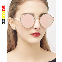 Fashion Ladies Sunglasses Metal Round half Frame Sun Glasses New Eyewear