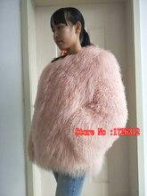 2017 fashion beach wool full leather short design coat mongolia sheep fur coat overcoat outerwear jacket women