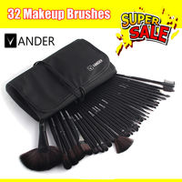 Vander 32pcs Makeup Brush Set Professional Cosmetics Brushes Eyeshadow Powder Make Up Tool Kit Pouch Bag