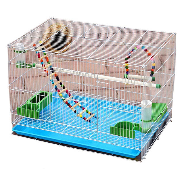 288137993 Online Shop Pet Bird Metal Bird Cage Pigeon Starling Lovesickness Parrot  Cage Breeding Cage with Automatic Drinking Fountain Three Sizes