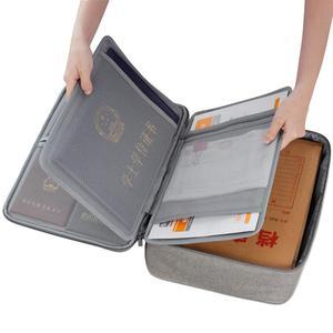 Image 3 - Boona אוקספורד עמיד למים מסמך תיק ארגונית ניירות אחסון פאוץ תיק אישורים תעודת אחסון קובץ כיס עם מפריד