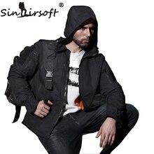 SINAIRSOFT Chasse Sports de Plein Air Tactique Militaire Veste Hommes Coupe-Vent Imperméable Randonnée Veste Camouflage Vêtements Multicam