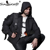 SINAIRSOFT Outdoor Hunting Sports Military Tactical Jacket Men Waterproof Windproof Hiking Jacket Camouflage Clothing Multicam