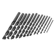 Uxcell Hot Sale 13 in 1Set 1.5mm to 6.5mm Twist Drill Bits HSS Straight Shank Bit Wood Drilling Electric Drills Tool