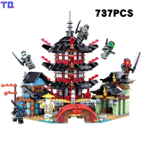 KAZI City Girl Architecture Pagoda Ninjago Super Hero Educational Brick Block Kids Toys Christmas Gift Compatible