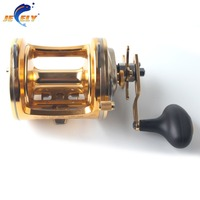 Jeely ACT351 Aluminum Saltwater Trolling Fishing Reel Fishing Drum Reel Boat Fishing Reel
