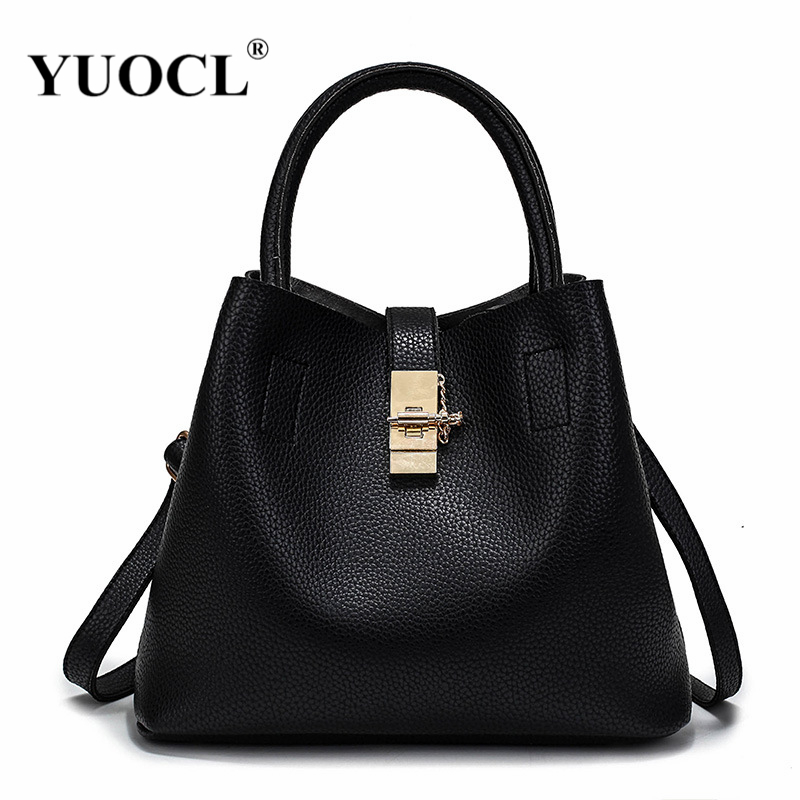 YUOCL shoulder crossbody tote bags for women leather luxury handbags women messenger bags designer famous brands 2017 sac a main luxury leather women handbags casual tote bags original designer brand bag hot ladies famous brands messenger bags sac a main