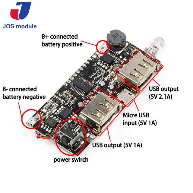Kép USB 5 v 1A 2.1A Điện Thoại Di Động Ngân Hàng 18650 Pin Sạc PCB Power Module Phụ Kiện Cho Điện Thoại DIY Mới LED LCD Mô-đun Hội Đồng Quản Trị