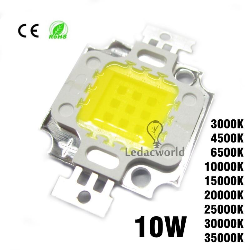 5pcs/lot 10W High Power LED Chip SMD COB Beads 45mil 30mil Warm White Nature White Cold White 3000K 4500K 6500K 10000K-35000K