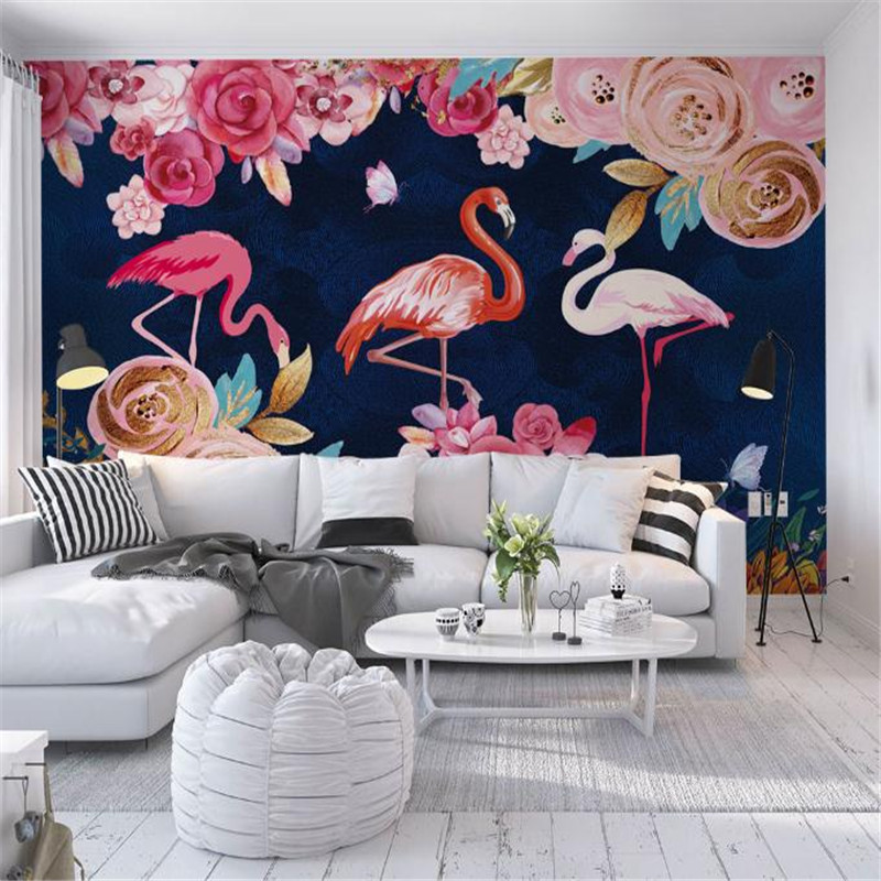 modern custom 3d HD photo wallpaper large europe luxury living room bedroom background wall mural flamingos flower wallpaper book knowledge power channel creative 3d large mural wallpaper 3d bedroom living room tv backdrop painting wallpaper