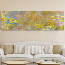 Sale handpainted Claude Monet Oil Painting Lotus Oil Painting on Canvas Impressionist Wall Art Picture Poster for Living Room claude monet impressionist the windmill on the onbekende canal amsterdam photo printed canvas oil painting home wall art gift