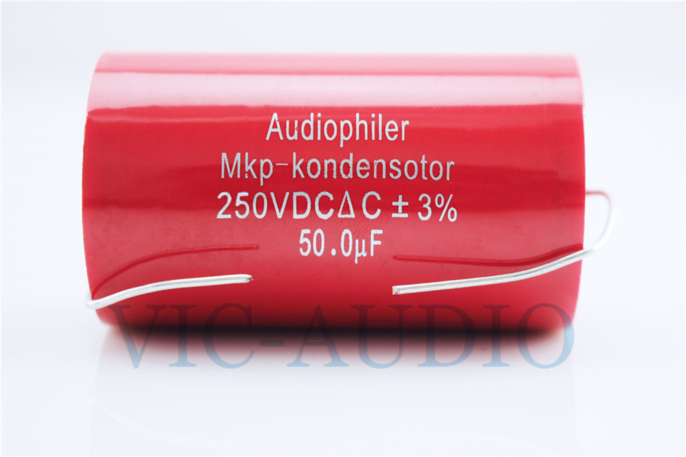 1PC Audiophiler MKP Kondensotor 250VDC 50uf 3% Audio Capacitor Frequency Divider Amplifier HIFI Capacitance 50.0UF Free Shipping