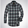 Men's Plaid Shirt 100% Cotton 2017 Spring Autumn casual long-sleeved shirts men Slim Fit Soft Comfort Styles Brand Man Clothing