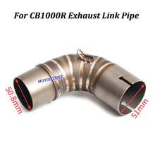 For Honda CB1000R Motorcycle Exhaust Escape Muffler Modified Middle Conncetion Link Pipe Slip on 2010-2015