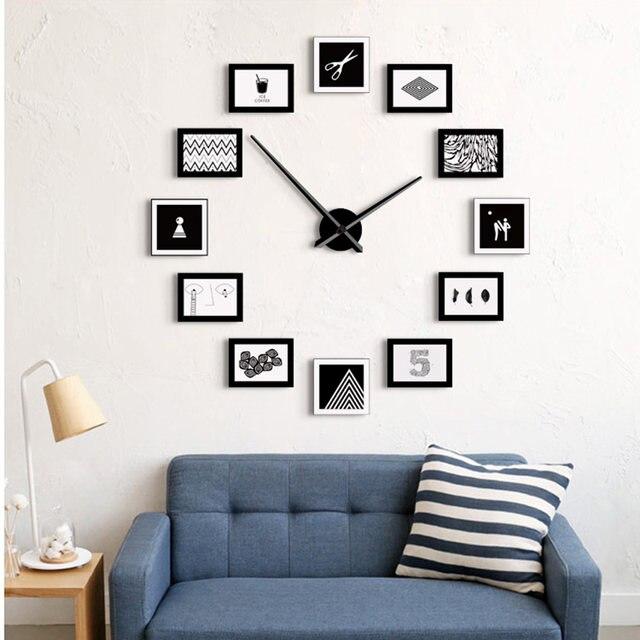 Online Shop Creative Photo Frame Personality Needle Quartz Wall ...