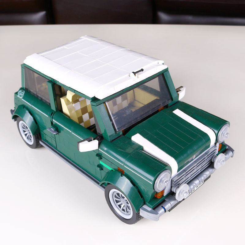 HOT 1108Pcs Creator MINI Cooper  beetle Model Building Bricks Block Set Toy Gift Compatible With Legoe simulation mini golf course display toy set with golf club ball flag