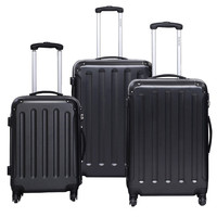 3 pcs Luggage Set Travel Trolley Suitcase with Durable Multi directional Wheels for Women Men School College Business Suitcases