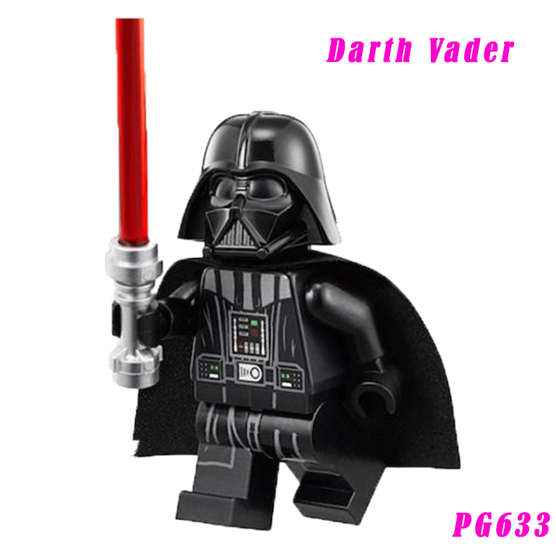 Darth Vader With Red Lightsaber New Version Mini Bricks Single Sale Education Building Block Best Kids Gift Toys 633