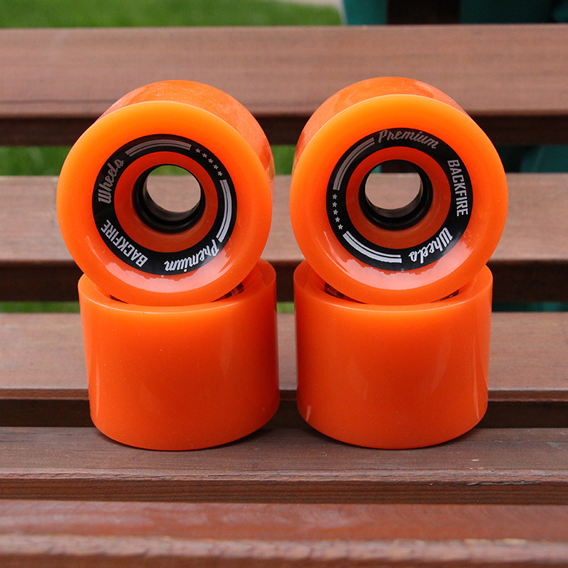 4pcs 2018 New Transparent Skateboard Wheels 70*55mm 78A PU Longboard Wheels Men Women Brush Street Wheels Blue Orange Wheels