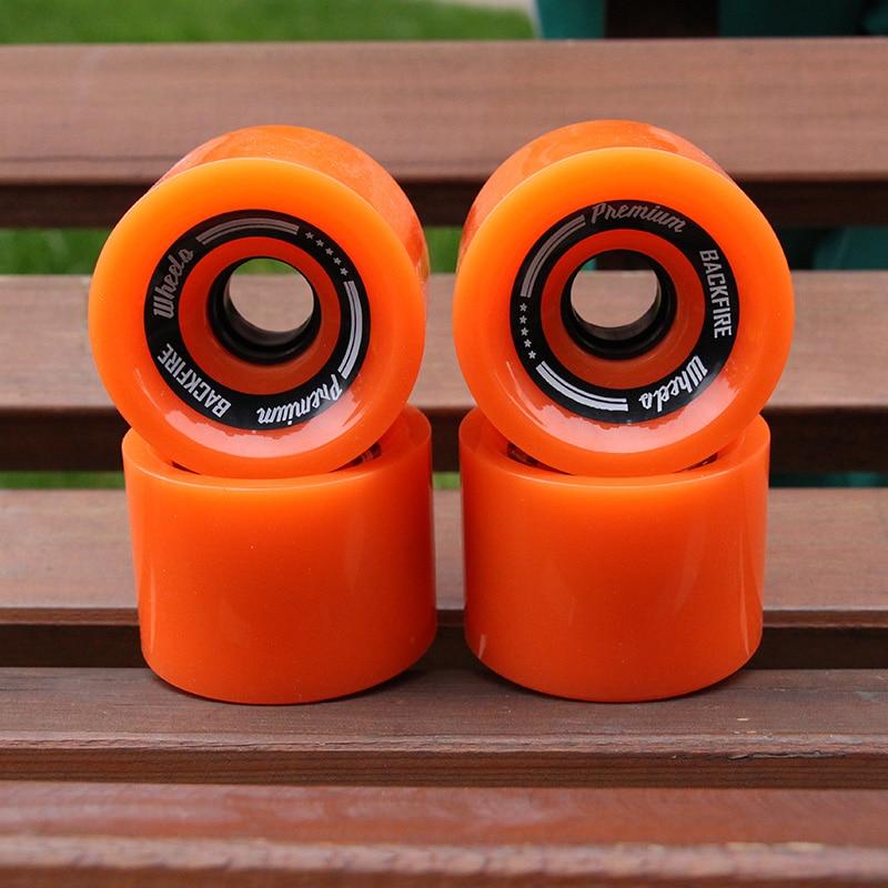 4pcs 2018 New Transparent Skateboard Wheels 70*55mm 78A PU Longboard Wheels Men Women Brush Street Wheels Blue Orange Wheels