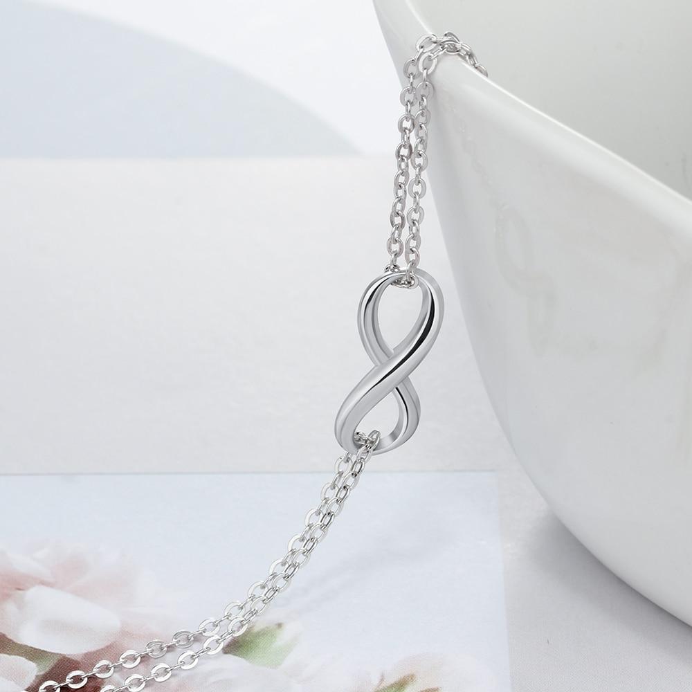 Orijinal 925 Sterling Gümüşü Sonsuz Bilərziklər və Qadınlar - Gözəl zərgərlik - Fotoqrafiya 4