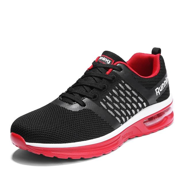 Мужская обувь для бега из сетчатого материала Спортивная обувь для мужчин крутой стиль дышащие кроссовки уличные беговые кроссовки Спортивная мужская обувь