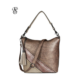 Serpentine Women Shoulder Bag 2018 New Arrival  Fashion PU Spliced Shoulder Bag Ladies Casual  Handbags High Quality