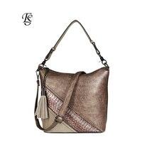 Serpentine Women Shoulder Bag 2018 New Arrival Fashion PU Spliced Shoulder Bag Ladies Casual Handbags High Quality