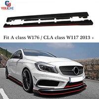 for Mercedes W176 Carbon Fiber Side Skirt Splitter for A Class A160 A180 A200 A250 A45 AMG & CLA W117 CLA180 CLA45 AMG Package