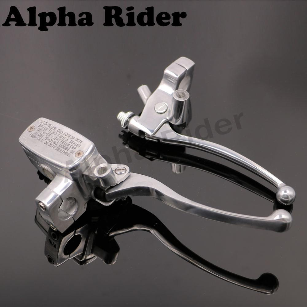 1 25MM Clutch Brake Master Cylinder Reservoir Levers Polished for Honda Sabre 1300 Shadow Aero Spirit 750 1100 VLX 600 VTX1300 1 pair motorcycles supplies chrome brake clutch levers for honda shadow 750 1100 1998 2010 vtx 1300 03 04 10 motorbike brakes